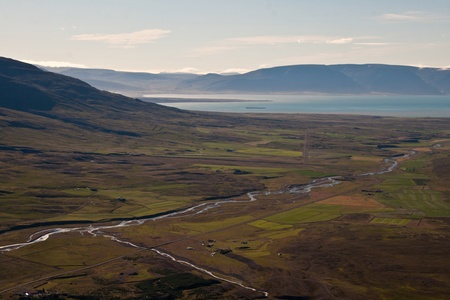 view over a beautiful valley in Iceland photo