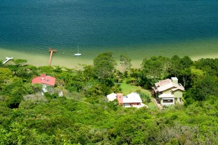 small houses near lagoon , Brazil photo