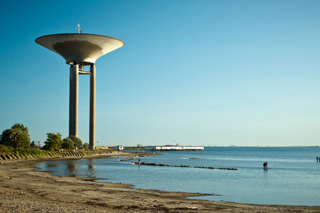 The water tower in Lanskorna, Scania, Sweden Stock Photo - 22834985