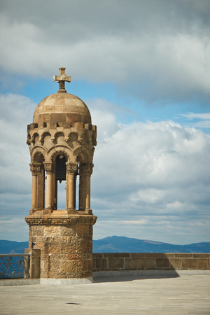 tibidabo: Details of church on Tibidabo mountain, Barcelona, Spain