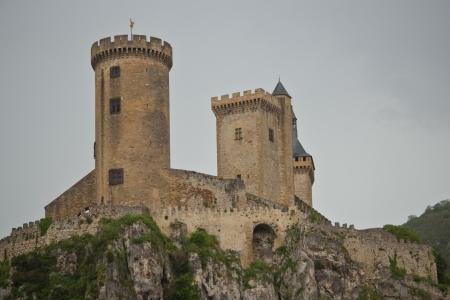towers of old fortress of Foix, France Reklamní fotografie