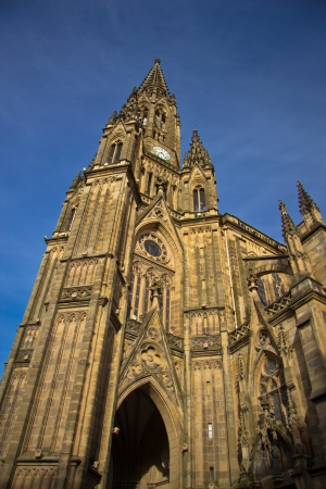 The Cathedral of the Good Shepherd on a sunny day in San Sebastian photo