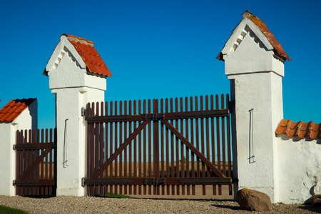 old gates in rural part of Denmark photo