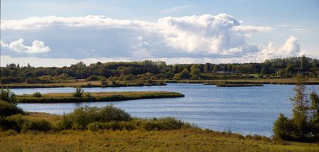 beautiful lake near Roskilde, Denmark photo