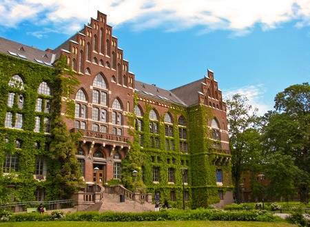education in sweden: old university building in Lund, Sweden
