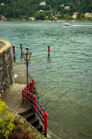 stairs to the lake Maggiore, Italy photo