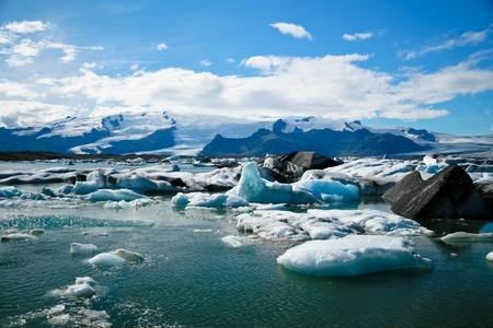 jokulsarlon: Jokulsarlon Glacial Lagoon near Vatnajokull in Iceland Stock Photo