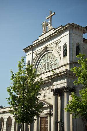 facade of the Churda in city of  Como, Italy photo