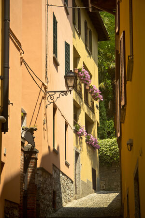 street at Bellagio village, Italy photo