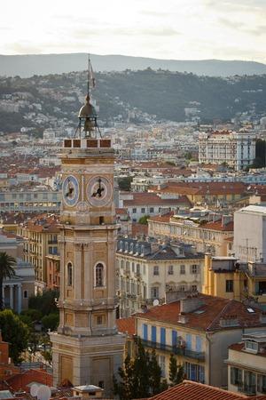 Nice city bird eye view, Cote d Azur, France photo