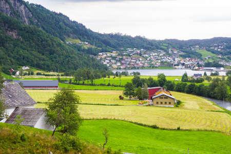 hardanger: vie from Steinsdalsfossen - one of the gorgeous waterfalls in Norway