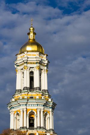lavra: bell towe of Kiev-Pechersk Lavra, UNESCO world heritage