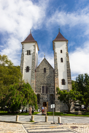 gothic church: church of St. Mary in Bergen, Norway Stock Photo