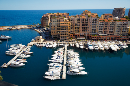riviera: Fontvielle Harbour, Monaco, on the French Riviera