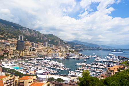 monte carlo: view of Monte Carlo, Monaco, Corte dazure
