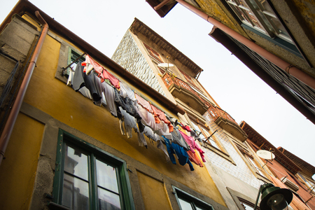 mediterranean countries: drying laundry outside the windows facing the street is a common sight in the Mediterranean countries