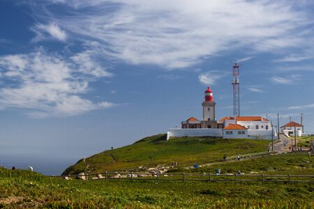 roca: Lighthouse at Cabo da Roca at the coast of Portugal