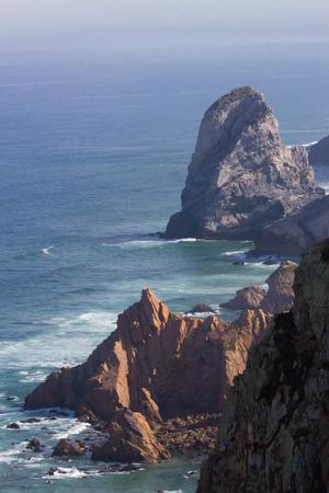sintra: cliffs at Cabo da Roca, Sintra, Portugal Stock Photo