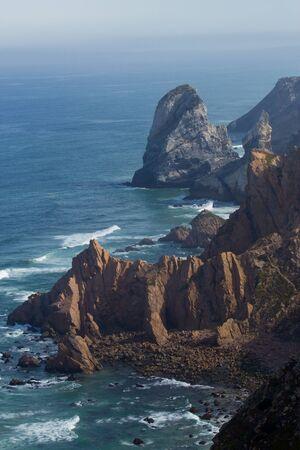 roca: cliffs at Cabo da Roca, Sintra, Portugal Stock Photo