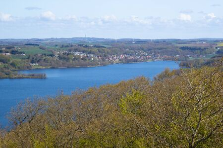 ry: view over Silkeborg Lake from the highest point of Denmark
