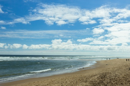 sand at Beach on Cape Cod, MA, USA Stock Photo