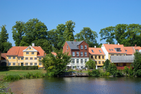 lake in Nyborg town cente, Funen, Denmark Stock Photo