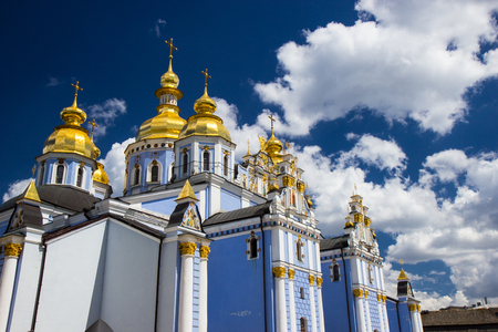Saint Michaels Golden-Domed Cathedral in Kyiv, Ukraine.