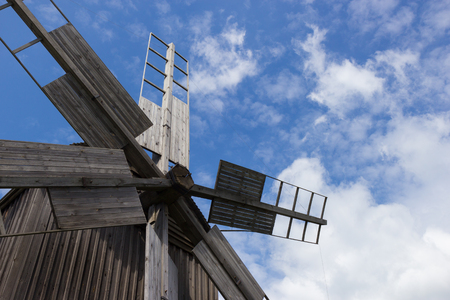 widnmill in in open air museum near Kiev Stock Photo