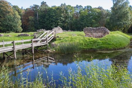 ruins of Asserbo caslte in Northern Denmark