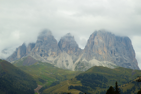 View of Sella Ronda in Dolomites, Italy