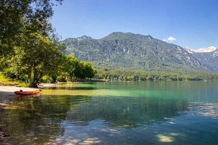 view of Lake Bohinj, Triglav National Park, Julian Alps, Slovenia