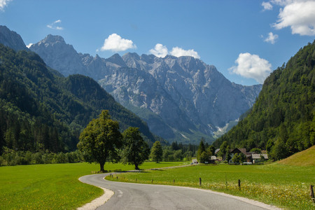 Summer View of The Logar Valley in Kamnik Mountains, Slovenia