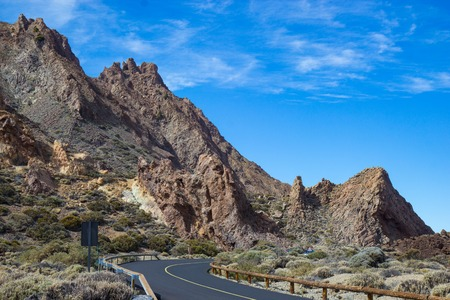 View of Teide National Park,  Tenerife, Canary Islands, Spain 写真素材