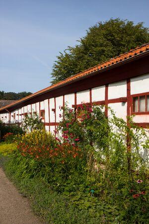 facade of half timbered house in Ribe, Jutland, Denmark