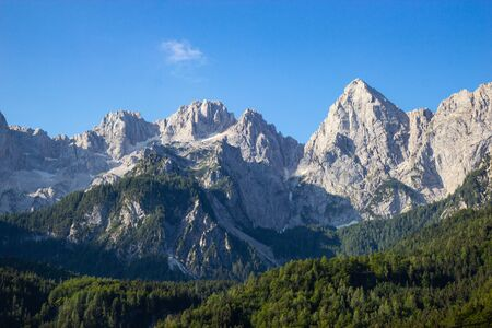 gorgeous view of moutain Spik in Julian Apls, Slovenia