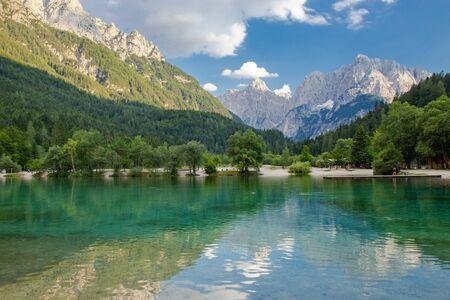 View of Jasna lake in Triglav National park, Slovenia