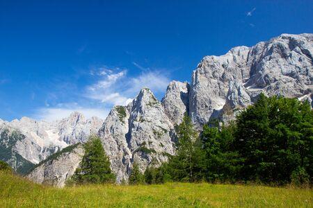 Lato w Parku Narodowym Triglav, Alpy Julijskie, Słowenia