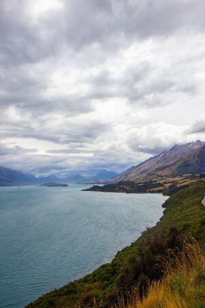 northern end of Lake Wakatipu in the South Island region of Otago, New Zealand Stock fotó