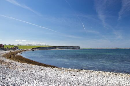 Sangstrup Klint - white cliffs in Djursland area, Jutland, Denmark