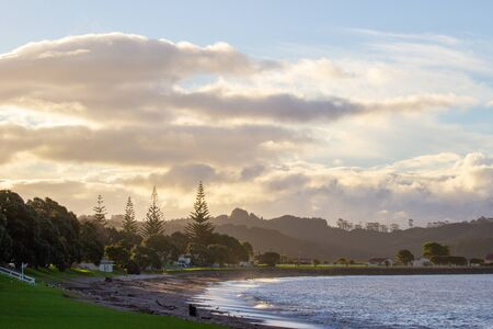morning at Paihia beach, Bay of Islands, New Zealand Stockfoto