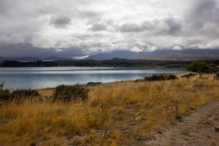 Rainy day near Tekapo lake, South island, New Zealand
