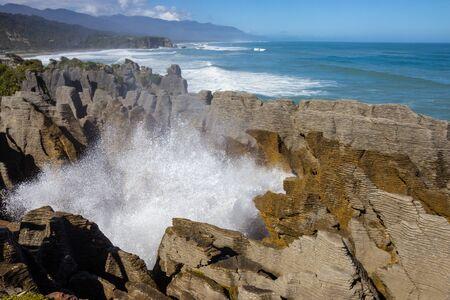 Punakaiki Pancake Rocks and Blowholes Walk, Paproa, South island, New Zealand
