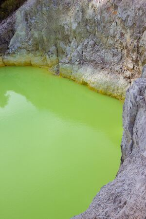 The Devil's Bath at Wai-O-Tapu geothermal area , North Island, New Zealand