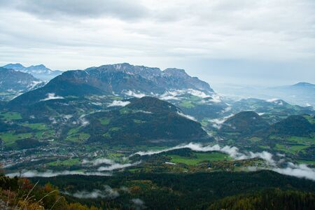 view of Alpine valley from The Kehlsteinhaus, Berchtesgaden National Park, Germany