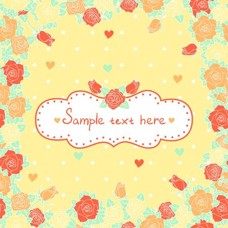 Abstract romantic vector background with rose Vector