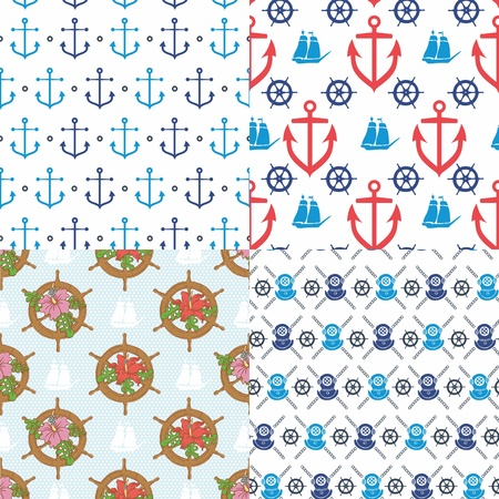 scallop shell: Seamless marine pattern