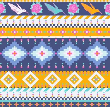 아즈텍 원활한 패턴 일러스트