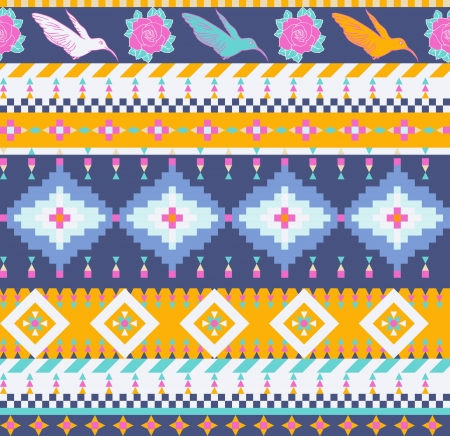 Aztecs seamless pattern Vector