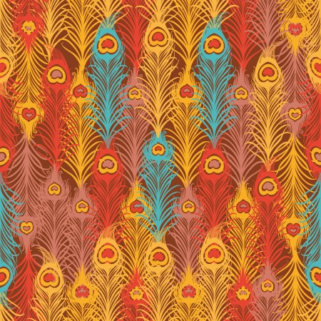 feather pen: Seamless pattern with  vintage feather