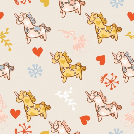 Horse seamless pattern Vector